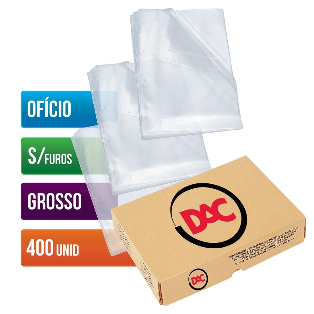 Envelope Plástico DAC Ofício com espessura Grosso e sem Furos - 400 unid