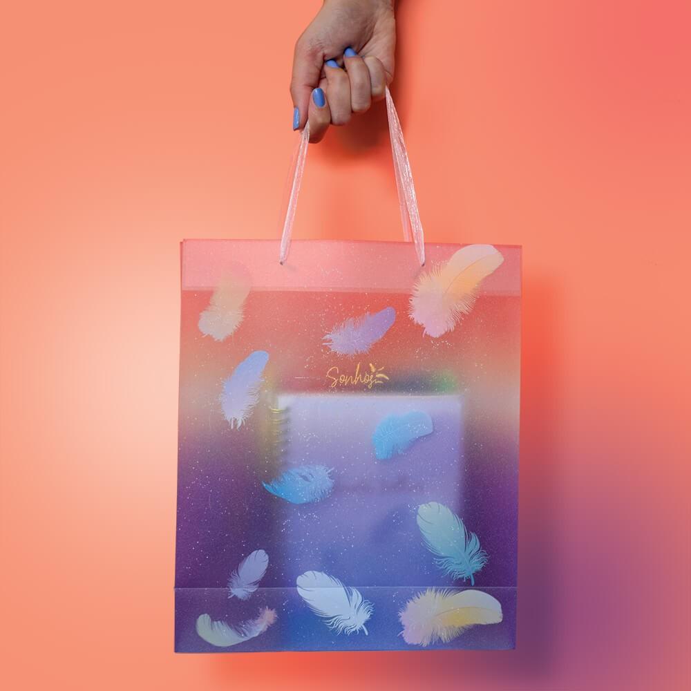 Sacola Plástica para Presente (Embalagem G 26,5 x 32 x 9,5 cm) DAC Sonhos - 3358