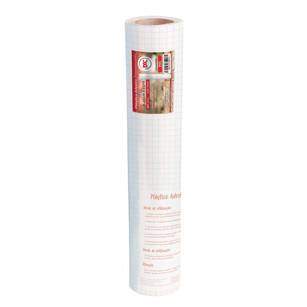 Adesivo Plástico Transparente PVC 45 cm x 25 mt