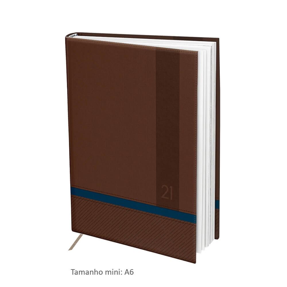 Agenda Mini DAC 2021 Marrom e Azul - 3097