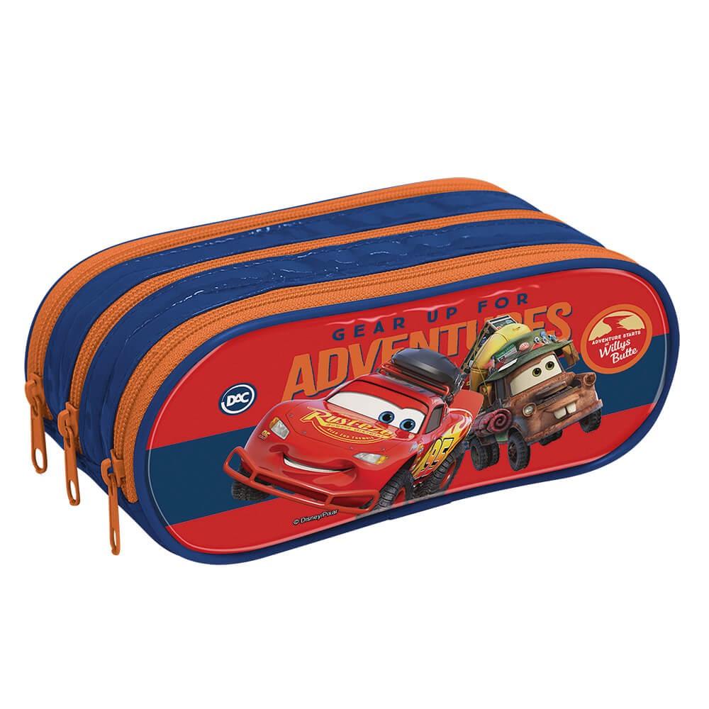 Estojo Escolar Triplo em PVC Carros Disney - 3171