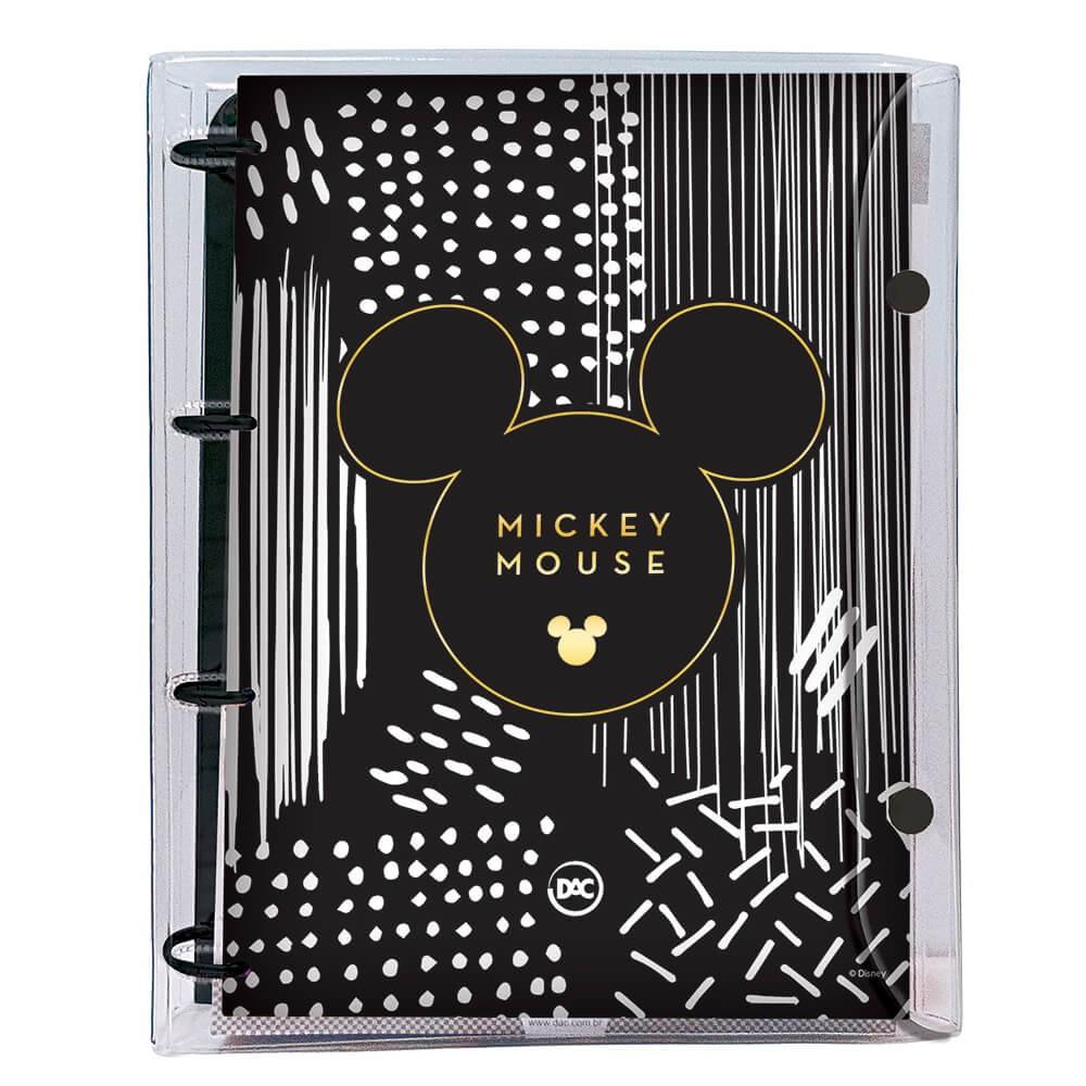 Fichário Universitário Cristal Mickey + 192 folhas - 3139