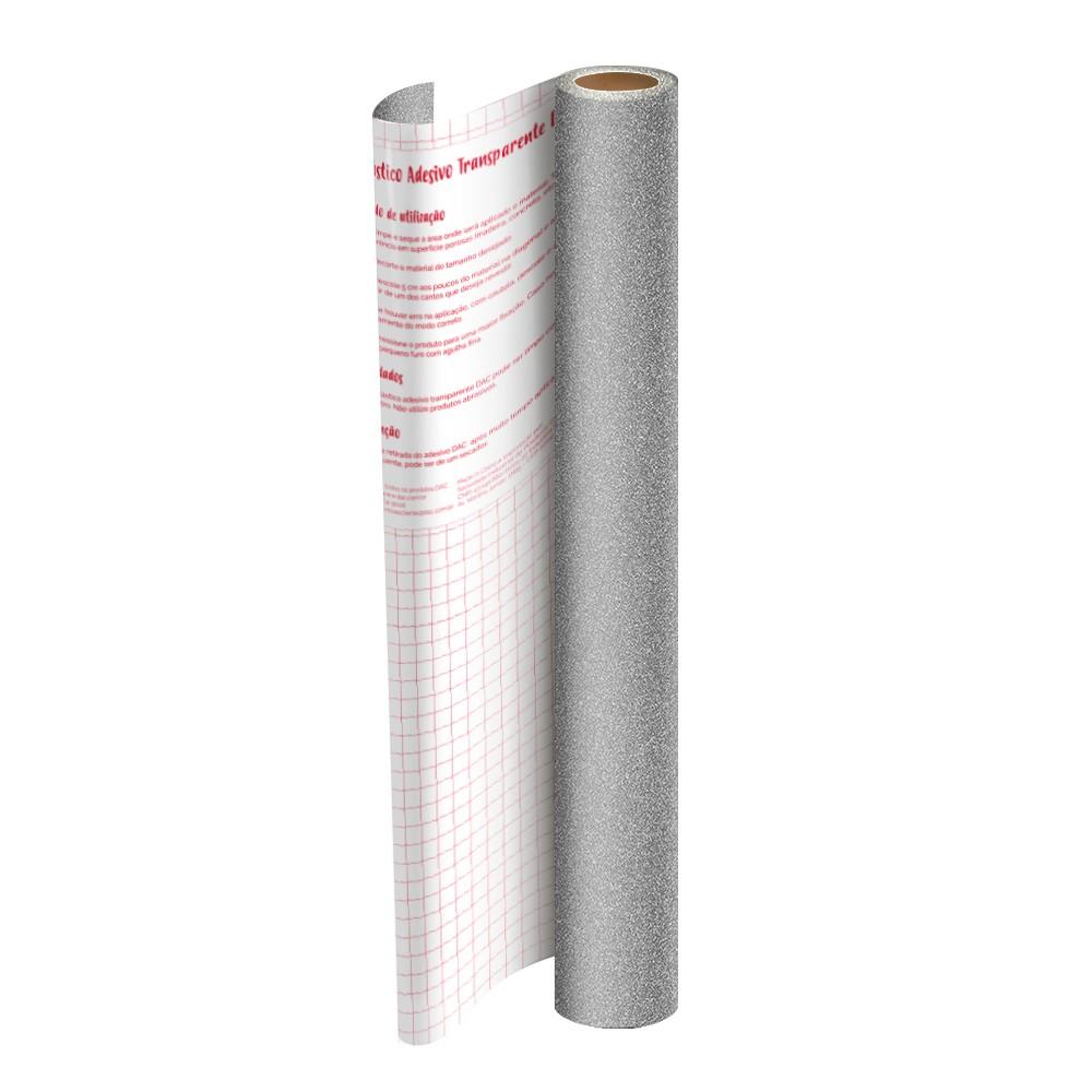 Rolo de Plástico Adesivo Prata com Glitter DAC 45 cm x 2 mt - 1711PT