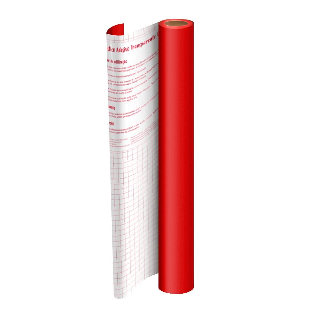 Rolo de Plástico Adesivo Vermelho DAC 45 cm x 2 mt - 1708VM