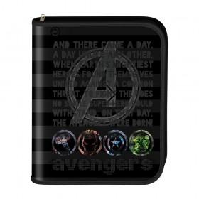 Fichário universitário fechamento em zíper Avengers com 48 Folhas - 2780