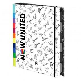 Fichário Mini 1/4 com Elástico Now United + 48 Folhas - 3216