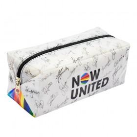 Estojo Escolar Grande Now United em PVC Cristal - 3217