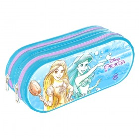 Estojo escolar duplo DAC em PVC Cristal Princesa