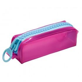 Estojo Escolar em Cristal Translúcido Pink DAC Color Bubble Pq - E233PI