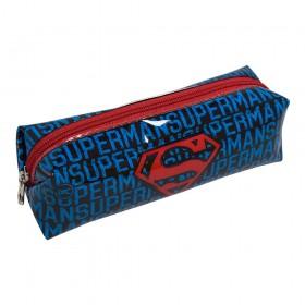 Estojo Escolar SuperMan em PVC Cristal - 3001