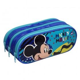 Estojo Escolar Triplo DAC em PVC Mickey - 2929