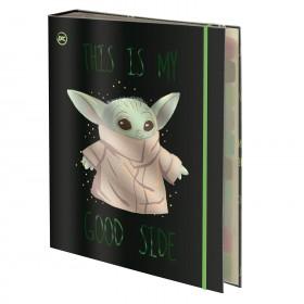 Fichário Universitário com Elástico Star Wars Baby Yoda + 48 Folhas - 3165