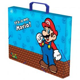 Maleta Ofício com Elástico Super Mario