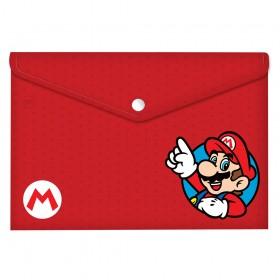 Malote A4 com Botão Super Mario