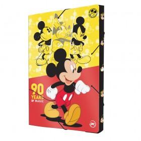 Pasta Aba Elástica Ofício com Lombo de 3 cm Mickey
