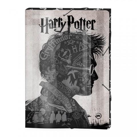 Pasta Aba Elástica Ofício Lombo de 3 cm Harry Potter - 2979