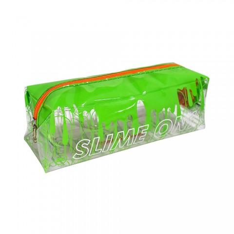 Estojo Escolar Médio em PVC Cristal Slime - 2940