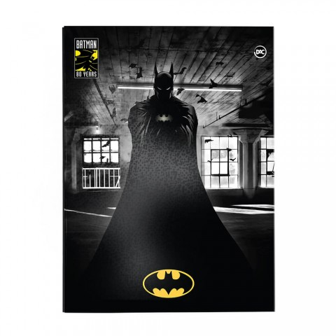 Pasta Catálogo Ofício Lombo Ajustável Batman com 10 Envelopes Plásticos - 3042