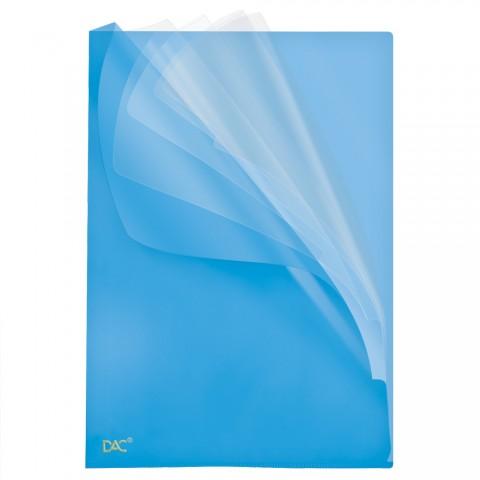 Pasta em L com 5 divisórias A4 DAC Soft Azul
