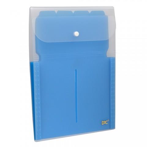 Pasta Sanfonada Vertical A4 com 5 Divisões DAC Soft Azul
