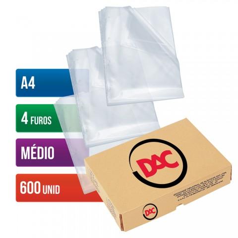 Envelope Plástico DAC A4 com espessura Médio e 4 Furos - 600 unid