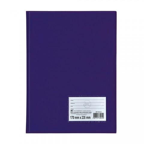 Pasta Catálogo 1/2 Ofício DAC Azul com 10 Envelopes Finos