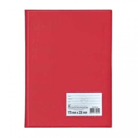 Pasta Catálogo 1/2 Ofício DAC Vermelho com 10 Envelopes Finos