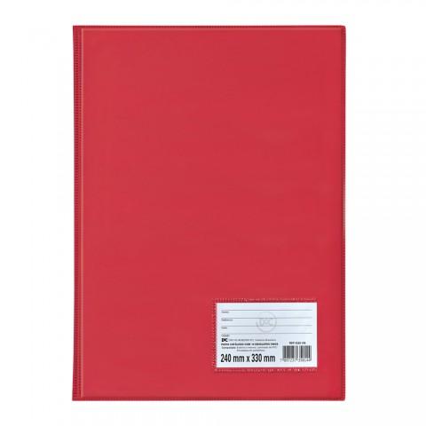 Pasta Catálogo Ofício DAC Vermelha com 10 Envelopes Finos