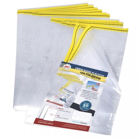 Envelope Plástico DAC com Fita adesiva A4 - 50 unid