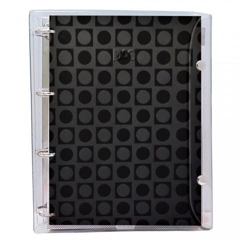 Fichário universitário Basic Cristal Preto com 192 folhas