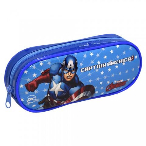 Estojo Escolar DAC em PVC Avengers Capitão América - 2988