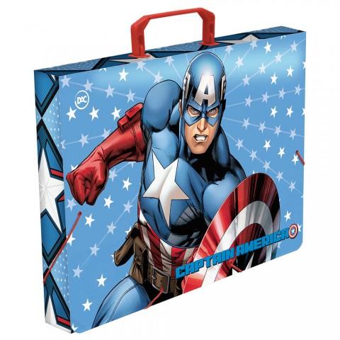 Maleta Ofício com elástico Avengers Capitão América - 2787