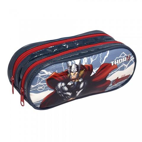 Estojo Escolar Duplo DAC em PVC Avengers Thor - 2795