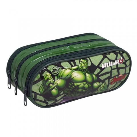 Estojo Escolar Triplo DAC em PVC Avengers Hulk - 2852