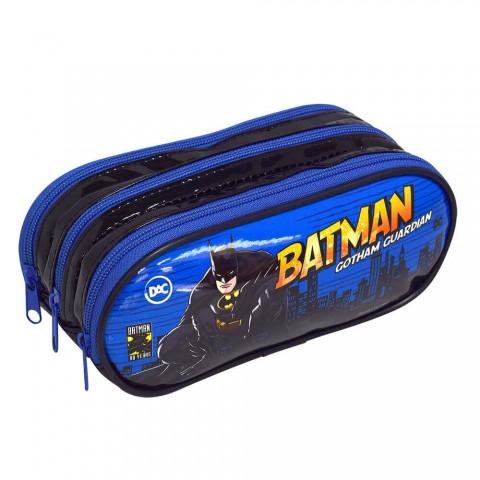 Estojo Escolar Triplo DAC em PVC Batman - 2987