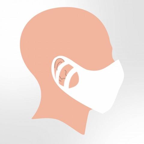 Máscara Semifacial Descartável com 3 Ajustes no rosto - 3160 - Pct com 50 unidades