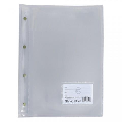Pasta Catálogo Ofício DAC Diamante Transparente com 10 Envelopes grossos