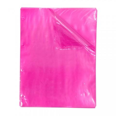 Envelope Plástico A4 Rosa DAC Color Bubble com espessura Média e 4 Furos - 50 unid - 5086A4 -50