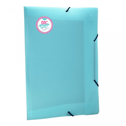 Pasta Aba Elástica Ofício Sem Lombo Azul DAC Breeze - 801PP-AZ