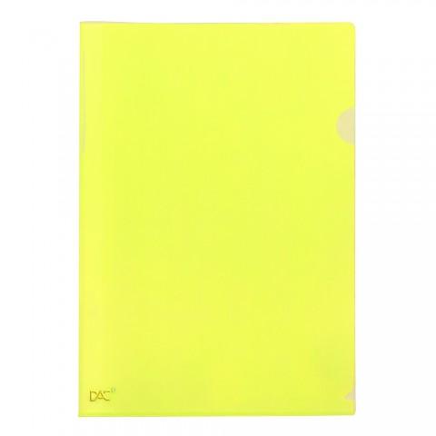 Pasta em L A4 Amarelo DAC Color Bubble - 10 unidades - 910PP-AM