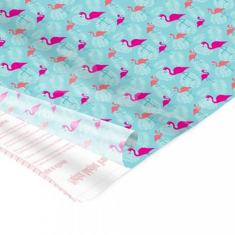 Adesivo Plástico Flamingo 35 cm x 50 cm - 5 unid