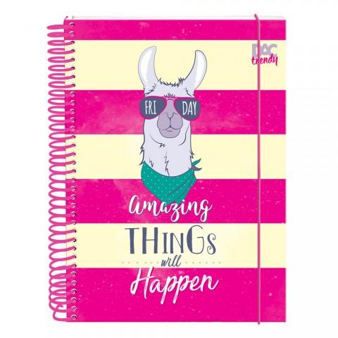Caderno DAC Trendy Lhama 10 Matérias