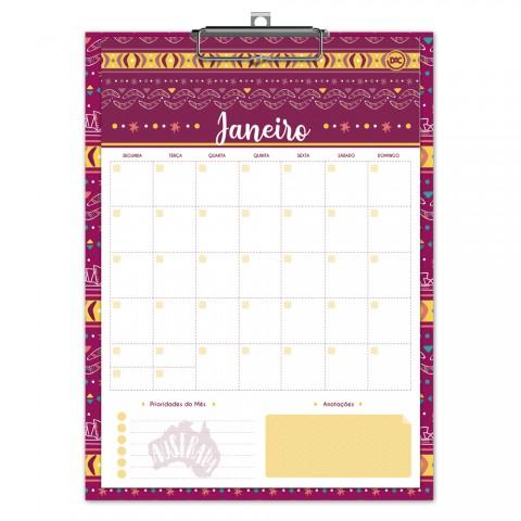 Calendário Planner Permanente na Prancheta Lume - 3015AU