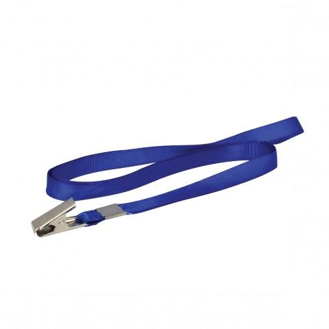Cordão de Tecido Azul p/ Crachá