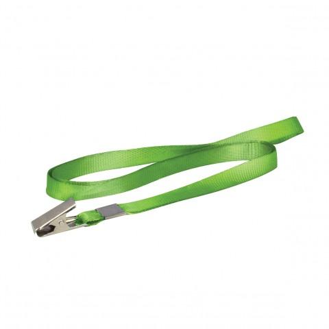 Cordão de Tecido Verde p/ Crachá