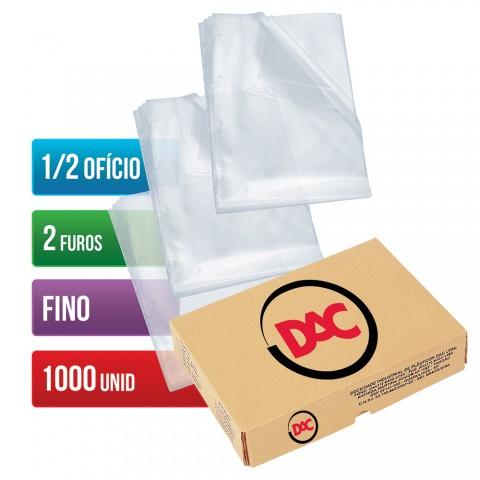 Envelope Plástico DAC 1/2 Ofício com espessura Fino e 2 Furos - 1.000 unid