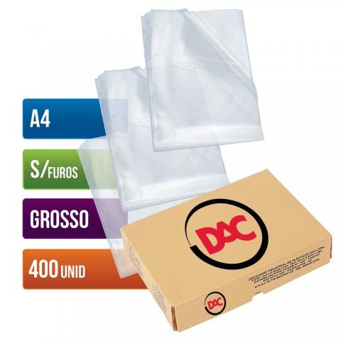 Envelope Plástico DAC A4 com espessura Grosso e sem Furos - 400 unid - 075A4