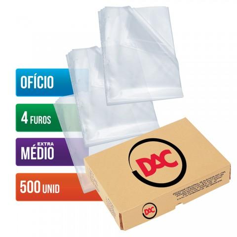 Envelope Plástico DAC Ofício com espessura Extra Médio e 4 Furos - 500 unid - 178