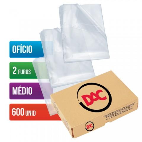 Envelope Plástico DAC Ofício com espessura Médio e 2 Furos - 600 unid