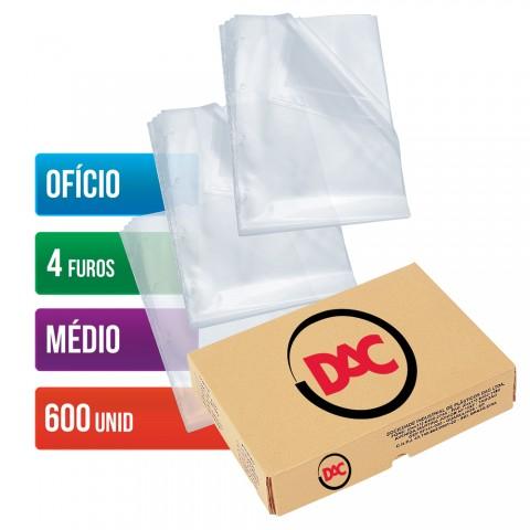 Envelope Plástico DAC Ofício com espessura Médio e 4 Furos - 600 unid - 078FU